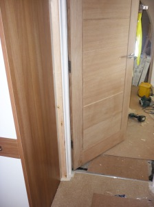 Taping Flooring 10 and architraves
