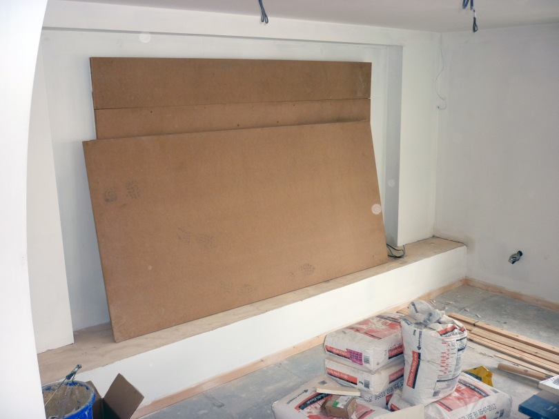 Working for P.Chapman in Carbis Bay St.Ives, Interior Design Tv/Plasma board Start to Finish