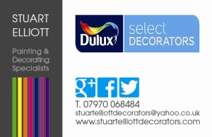 STUART ELLIOTT DECORATORS BACK OF CARD